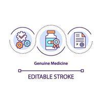 äkta medicin koncept ikon vektor