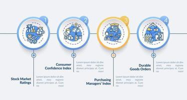 Einkaufsindex der Manager Vektor Infografik Vorlage