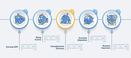 ekonomi justering och återhämtning av vinster vektor infographic mall