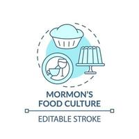mormon mat kultur turkos koncept ikon vektor
