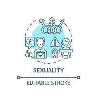 türkisfarbene Konzeptikone der Sexualität vektor