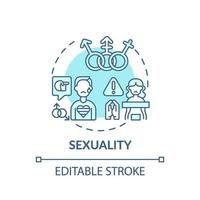 sexualitet turkos koncept ikon vektor