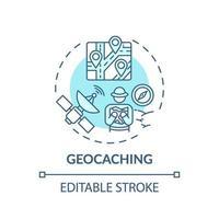 Geocaching-Konzeptsymbol vektor