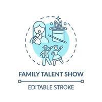familj talang show koncept ikon
