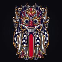 Kultur balinesische indonesische Kunstwerkillustration vektor