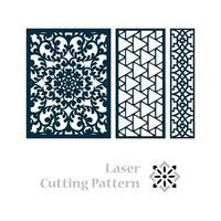 Laser geschnittenes islamisches Musterdesign vektor