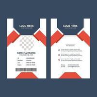 mall för företags-id-kort