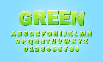 grünes Schriftalphabet vektor