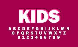 Kinderschrift Alphabet vektor