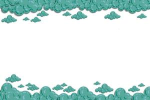 moln med himmel illustration vektor. färg pastell och lutning nyans. minimal illustrationmall för kort, webbplats, tapetbarn, bakgrund och tryck.