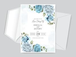 Hochzeitseinladungskartenschablone vektor