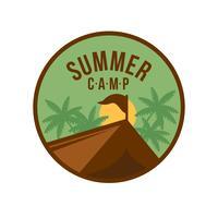 sommar läger patch emblem vektor