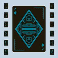 Nette Spielkarten-Vektoren vektor