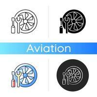 Flugzeugwartungssymbol vektor