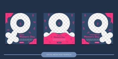 Social Media Post Vorlage. Internationaler Frauentag vektor