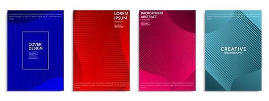 abstrakte Abdeckung buntes geometrisches Formdesign vektor