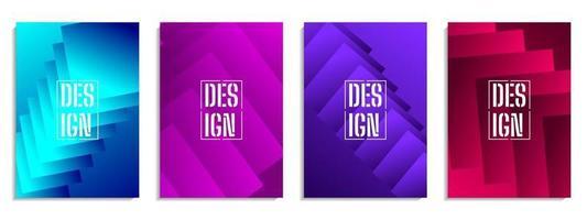 abstrakt täcka färgglada geometriska form design vektor