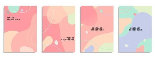 Vektorsatz des abstrakten kreativen Hintergrunds vektor