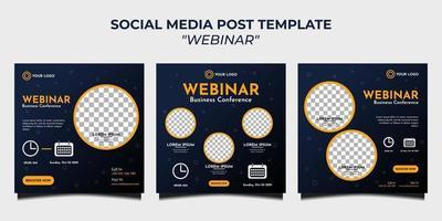 Webinar für Social-Media-Post-Vorlagen