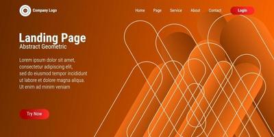abstrakter geometrischer Formhintergrund in orange Abstufung. Perfekt für Landing Pages, Websites, Banner, Poster, Events usw. Vektorillustrationen