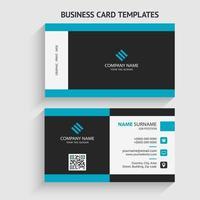 moderne Visitenkartenvorlage. Briefpapierdesign, flaches Design, Druckschablone, Vektorillustration vektor