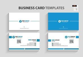 moderne Visitenkartenvorlage. Briefpapierdesign, flaches Design, Druckschablone, Vektorillustration. vektor