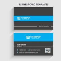 modern visitkortsmall. brevpapper design, platt design, tryckmall, vektorillustration