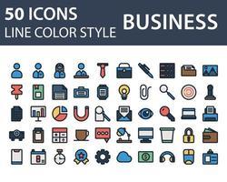 Satz Geschäftssymbol in Linie und Füllstil lokalisiert auf weißem Hintergrund. für Ihr Website-Design, Logo, App, UI. Vektorgrafiken Illustration und bearbeitbarer Strich. eps 10. vektor