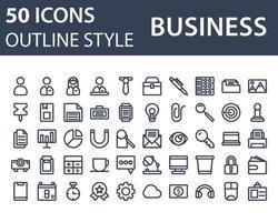 Geschäftsikone im Umrissstil lokalisiert auf weißem Hintergrund. für Ihr Website-Design, Logo, App, UI. Vektorgrafiken Illustration und bearbeitbarer Strich. eps 10. vektor
