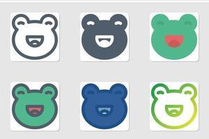 Froschikone in lokalisiert auf weißem Hintergrund. für Ihr Website-Design, Logo, App, UI. Vektorgrafiken Illustration und bearbeitbarer Strich. eps 10. vektor