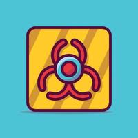 Biogefährdungsvektorikonenillustration. flacher Cartoon-Stil geeignet für Web-Landingpage, Banner, Aufkleber, Hintergrund. vektor