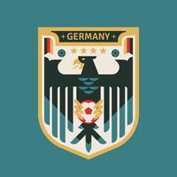 Tyskland VM fotbollsignaler vektor