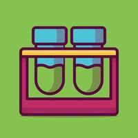 Reagenzglasvektorikonenillustration. flacher Cartoon-Stil geeignet für Web-Landingpage, Banner, Aufkleber, Hintergrund. vektor