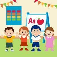 Kinder im Klassenzimmer-Vektor