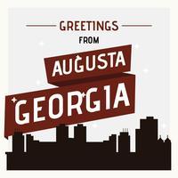 Augusta Georgia Postkarte Illustration