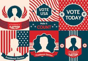 Kampagnen-Zeichen-Vektor-Satz