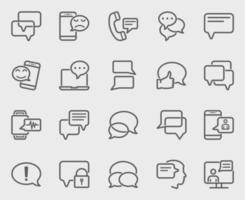 meddelandelinje ikoner set vektor