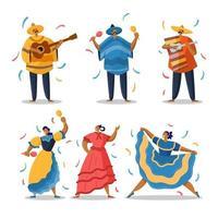 mexikansk karaktär för cinco de mayo