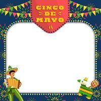 Musiker spielen das Akkordeon in Cinco de Mayo vektor