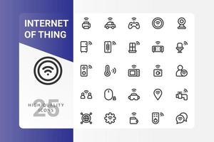 Internet der Dinge Icon Pack auf weißem Hintergrund vektor