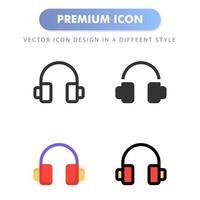 Kopfhörersymbol für Ihr Website-Design, Logo, App, Benutzeroberfläche. Vektorgrafiken Illustration und bearbeitbarer Strich. Icon Design EPS 10. vektor