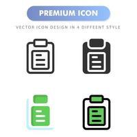 Notizsymbol für Ihr Website-Design, Logo, App, Benutzeroberfläche. Vektorgrafiken Illustration und bearbeitbarer Strich. Icon Design EPS 10. vektor