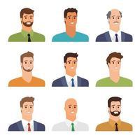 affärsmän avatarer vektor