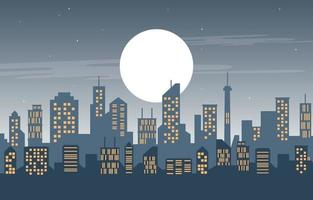 gestapelte Stadtgebäude-Stadtbild-Skyline-Geschäftsillustration vektor