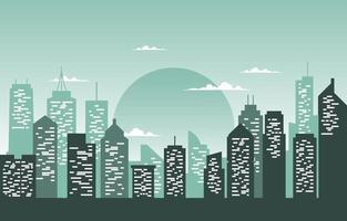 stadsbyggnadskonstruktion stadsbildshorisont affärsillustration vektor