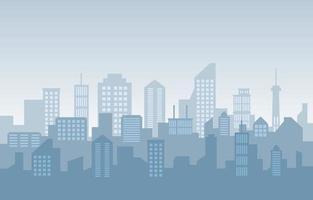 staplad stadsbyggnad stadsbildshorisont affärsillustration vektor