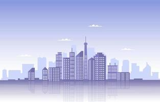 Stadtbau Bau Stadtbild Skyline Business Illustration vektor