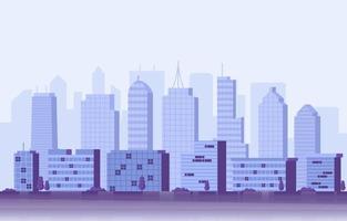 Gebäudearchitektur Bau Stadtbild Skyline Business Illustration vektor