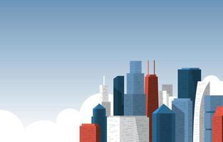 sky city byggnadskonstruktion cityscape skyline affärsillustration vektor