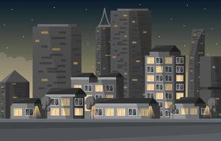 gatu stad byggnad konstruktion stadsbilden horisont affärsillustration vektor